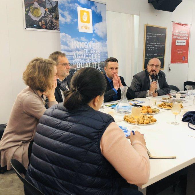 Pierre Ginèbre lors du petit-déjeuner de presse de la Chaire In'FAAQT au SIA 2020