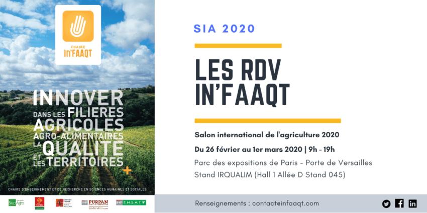 Les RDV In'FAAQT au SIA 2020
